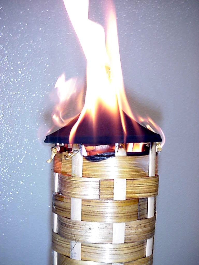 Picture of torch on fire