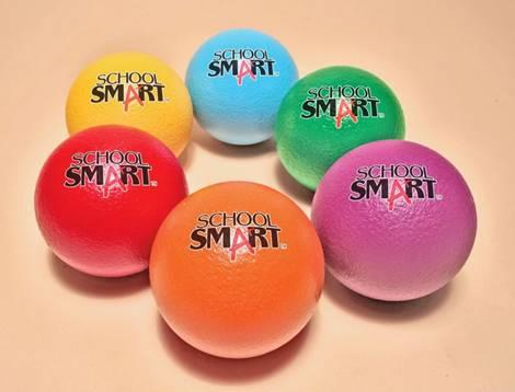 SchoolSmart TechnoSkin Coated Foam Balls
