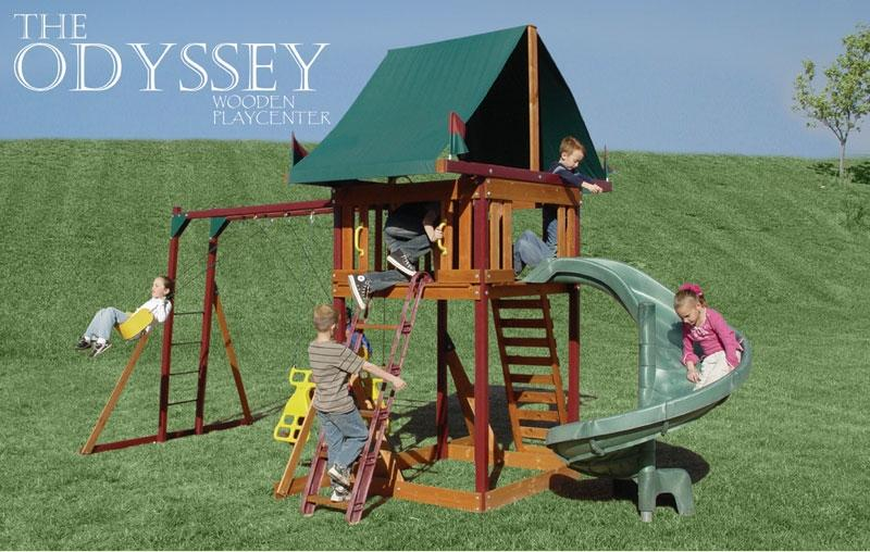 Picture of Recalled Odyssey Wooden Swing Sets