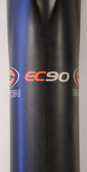 "Seat post ""EC90"" label"
