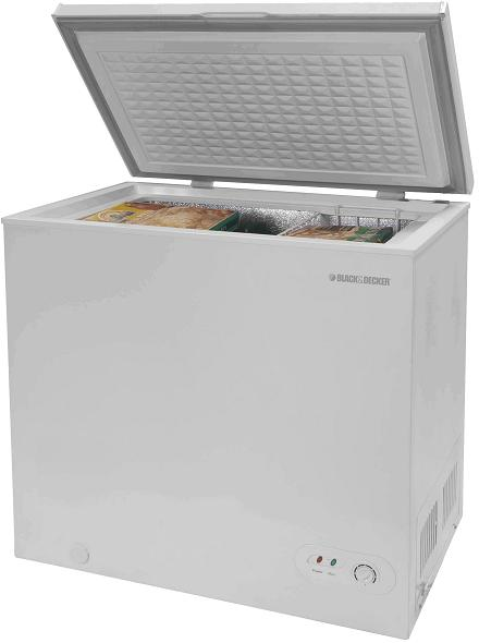 Recalled Black & Decker chest freezer