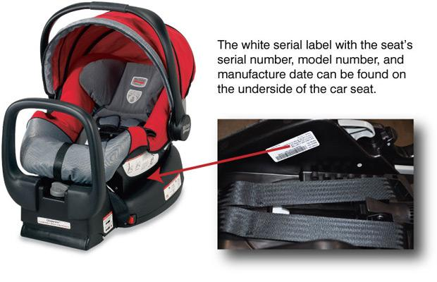 Picture of Recalled Infant Car Seat