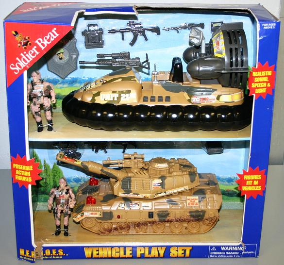 Picture of Recalled Soldier Bear Military Vehicle Toy Set