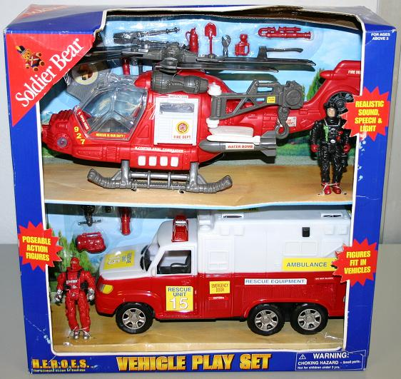 Picture of Recalled Soldier Bear Fire Rescue Vehicle Toy Set