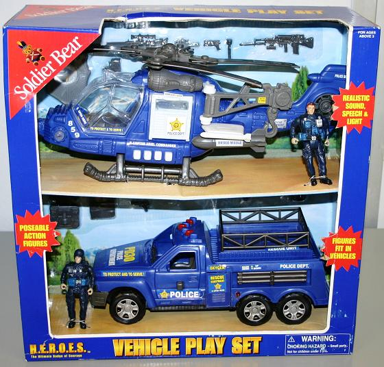 Picture of Recalled Soldier Bear Police Vehicle Toy Set