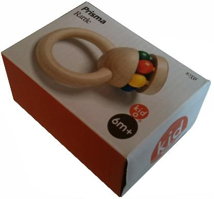 Picture of recalled Prisma rattle packaging