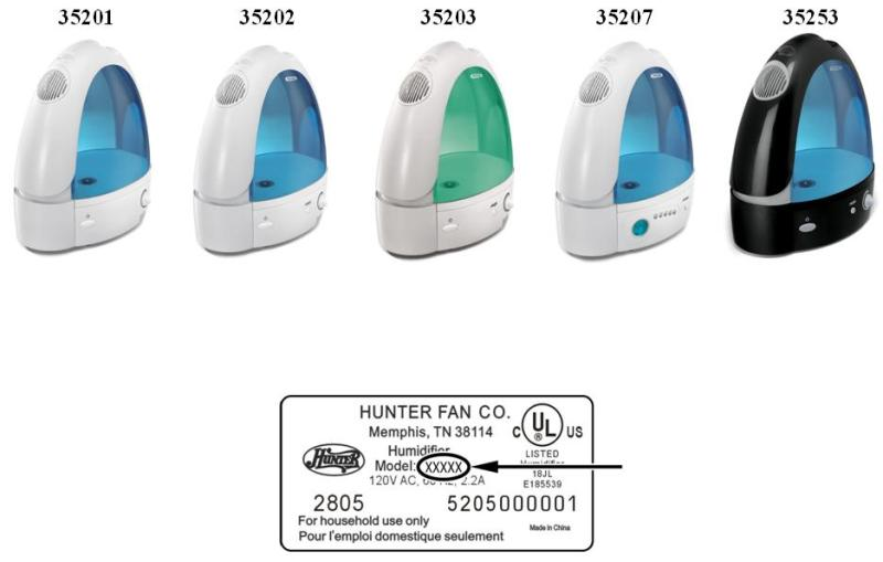 Picture of Recalled Humidifiers