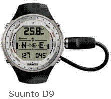 Picture of Recalled Dive Computer Model Suunto D9