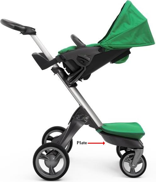 Picture of Recalled Stroller indicating plate