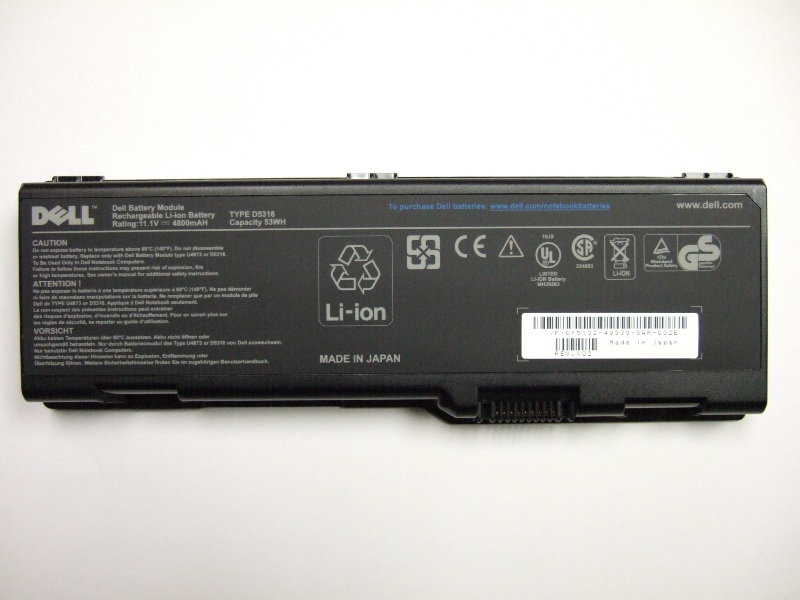Picture of Recalled Notebook Batteries