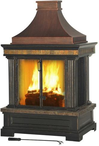 Picture of recalled outdoor fireplace