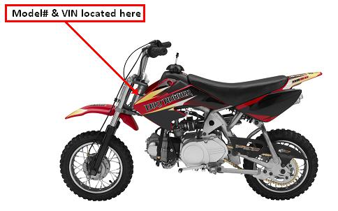 Picture of recalled Baja DR50 Dirt Bike