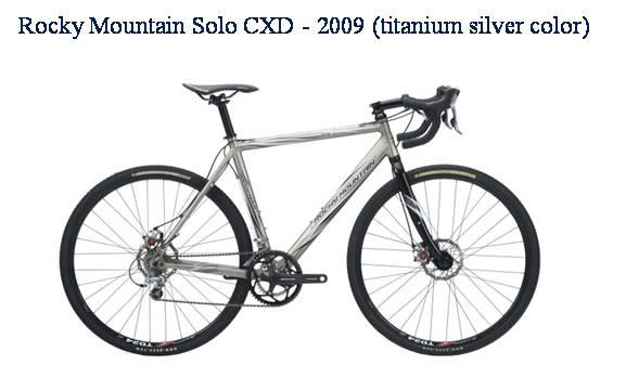 Picture of recalled Rocky Mountain Solo CXD 2009 Titanium silver color bicycle