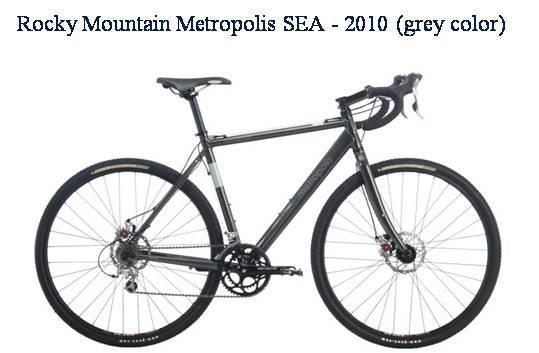 Picture of recalled Rocky Mountain Metropolis SEA - 2010 grey color bicycle