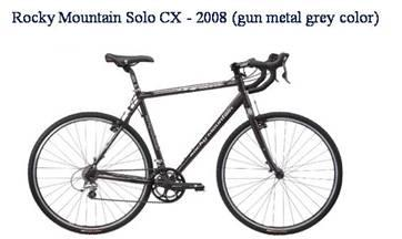 Picture of recalled Rocky Mountain Solo CX - 2008 gun metal grey color bicycle
