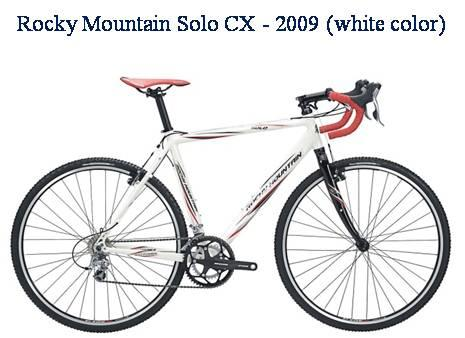 Picture of recalled Rocky Mountain Solo CX - 2009 white color bicycle