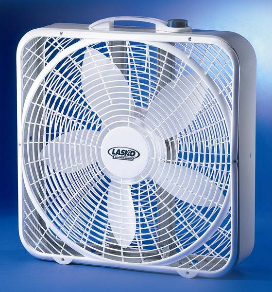 Picture of recalled model 3720 Lasko box fan