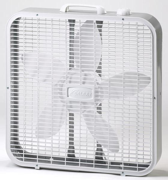 Picture of recalled model 4733 Galaxy box fan