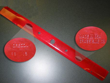 Picture of Recalled Lawnmower Blades