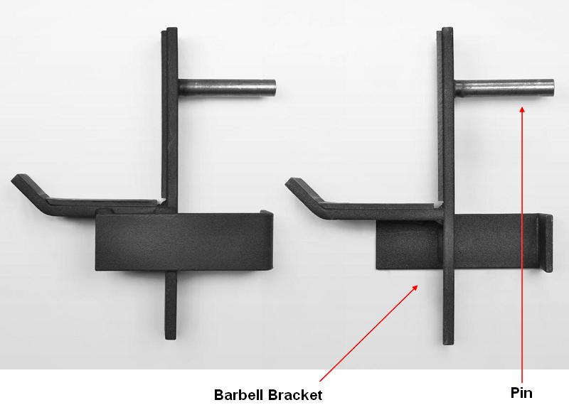 Picture of recalled barbell bracket
