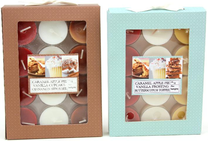 Picture of recalled Target/Chesapeake Bay Candle Sweet Delights tea light candles