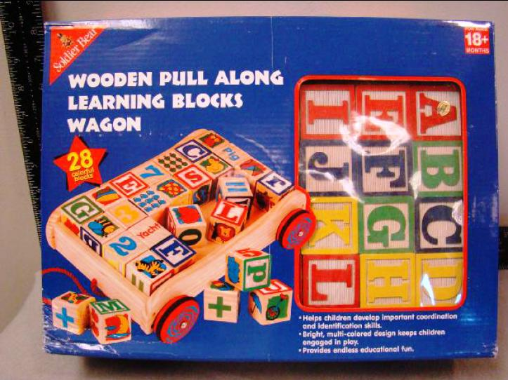 Picture of Recalled Wooden Pull-Along Learning Blocks Wagon