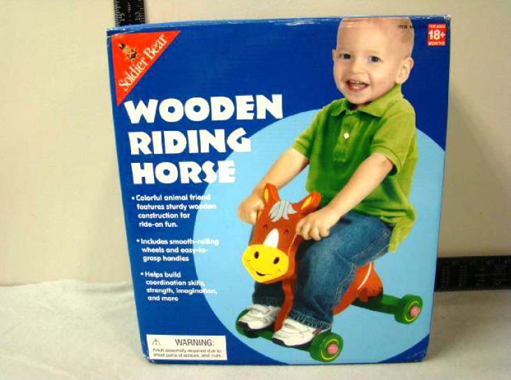 Picture of Recalled Wooden Riding Horse