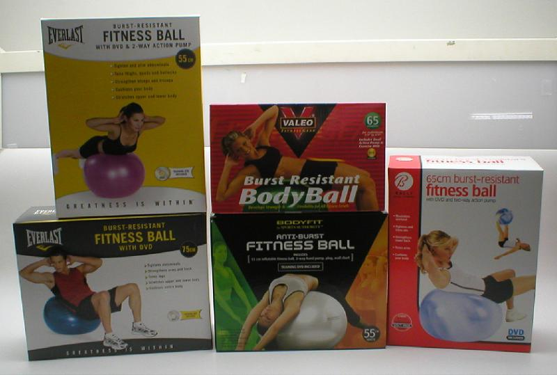 Picture of Recalled Fitness Ball Packaging