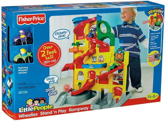Picture of recalled Fisher-Price Wheelies rampway set