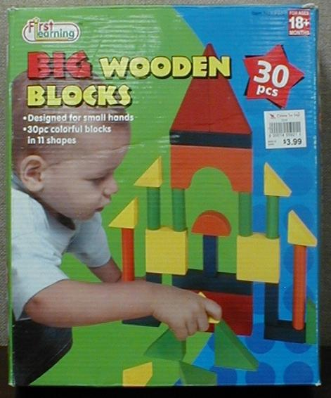 Picture of Recalled 30 Piece Big Wooden Learning Blocks Set