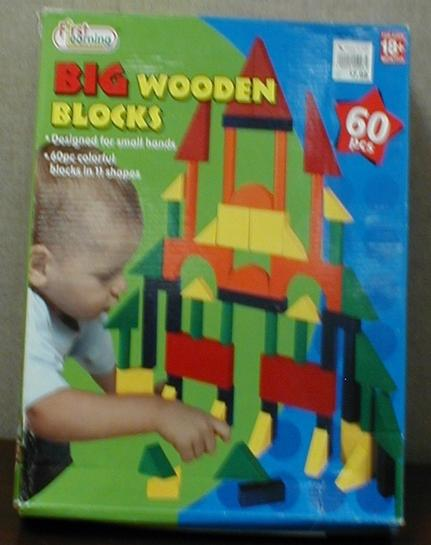 Picture of Recalled 60 Piece Big Wooden Learning Blocks Set
