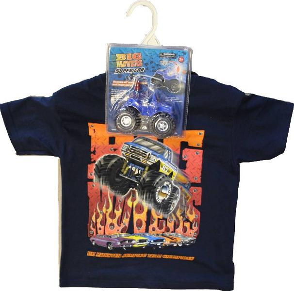 Picture of t-shirt sold with recalled toy truck as a gift