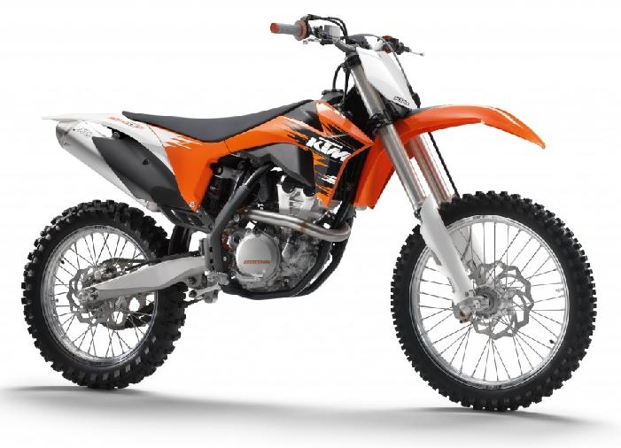 Picture of recalled SX-F Off-Road Motorcycle model