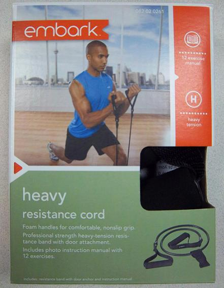 Picture of recalled Heavy Resistance Cord in package