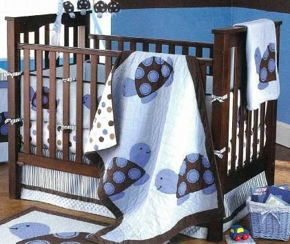 Picture of recalled 343-8124 Nightingale Spindle drop-side crib