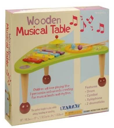 Picture of recalled Musical Wooden Table Toy Packaging