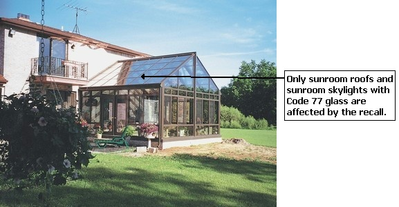 Picture of Recalled Sunroom