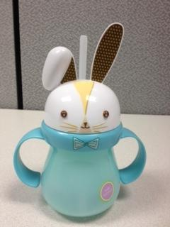 Picture of recalled blue Home Bunny sippy cup
