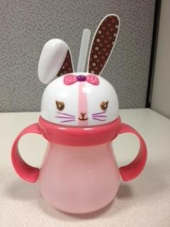 Picture of recalled pink Home Bunny sippy cup