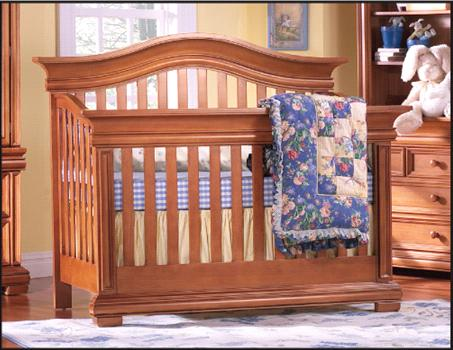 Picture of Recalled Majestic Curved Top Crib - Model # 9500