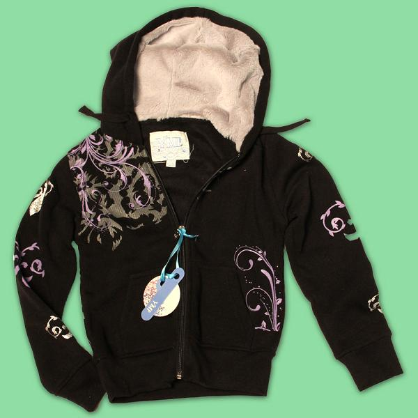 Picture of recalled girls' hooded sweatshirt