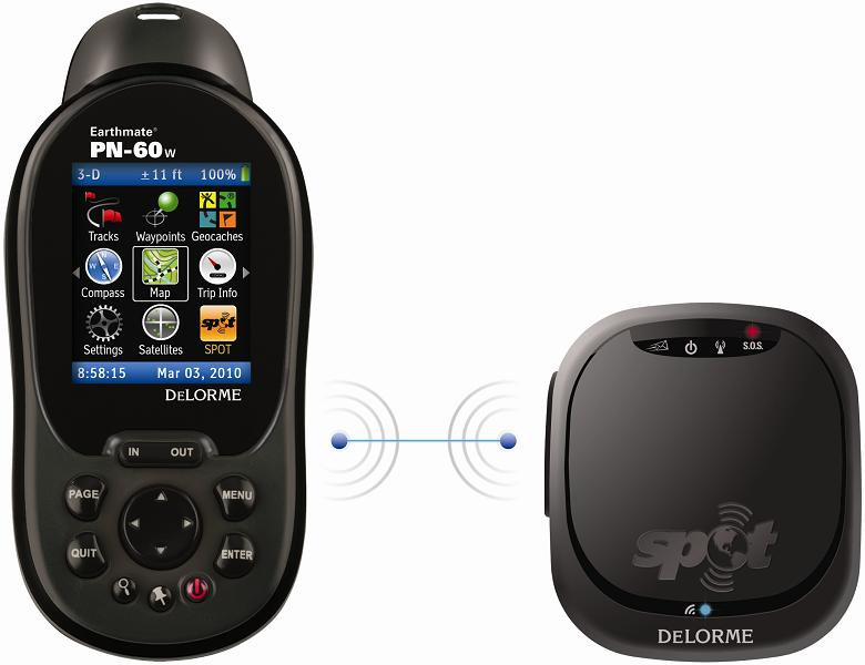 Picture of the recalled satellite communicator with the bundled GPS which is NOT subject to this recall