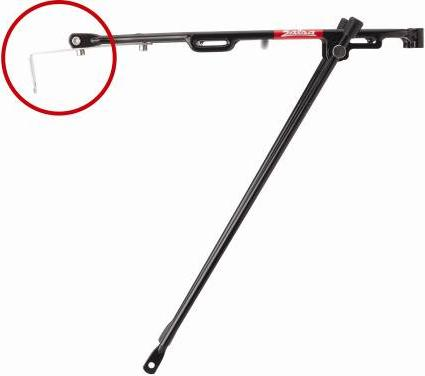 Picture of recalled Salsa Minimalist bicycle rack with mounting strap circled