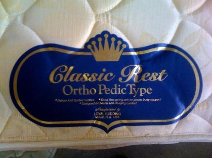 Picture of Recalled Mattress Set Label