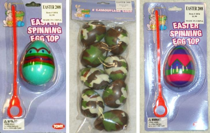 Picture of Recalled Camouflage Eggs and Spinning Egg Top Toys