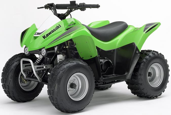 Picture of Recalled KFX90 All-Terrain Vehicle