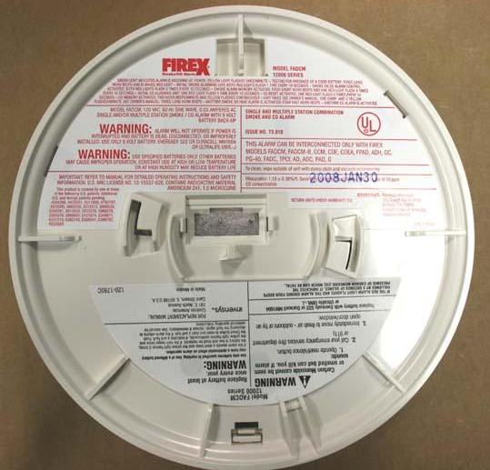 Picture of Recalled 12000 Series CO/Smoke Combo Alarms