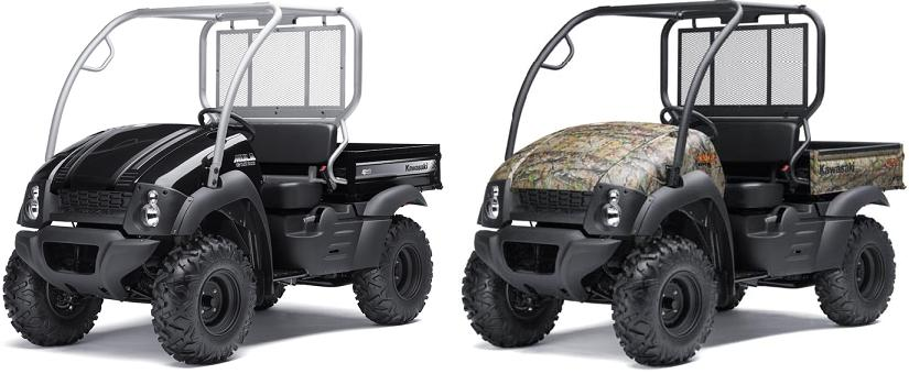 Picture of recalled MULE 610 4x4 XC (KAF400DCF/ECF) black and camouflage utility vehicles
