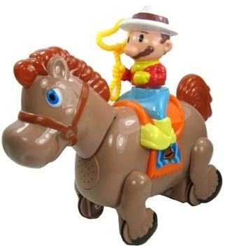 Picture of Recalled Cowboy on a Horse Little Rider Toys