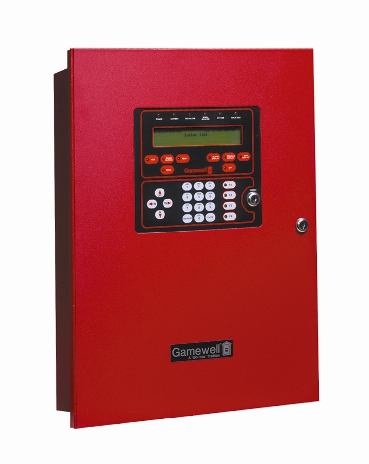 Picture of Recalled Fire Alarm System Control Panel